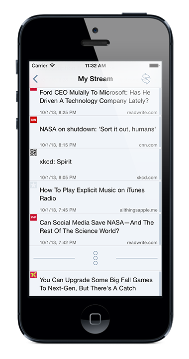 App.news on iPhone 5